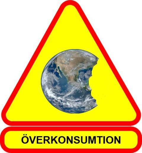 Varningsskylt överkonsumtion